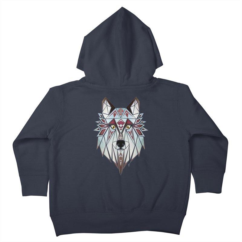 Wild wolf Kids Toddler Zip-Up Hoody by manoou's Artist Shop