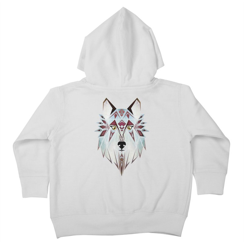 Wild wolf Kids Toddler Zip-Up Hoody by manoou's Artist Shop