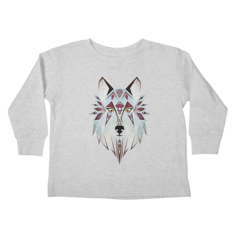 Wild wolf Kids Toddler Longsleeve T-Shirt by manoou's Artist Shop
