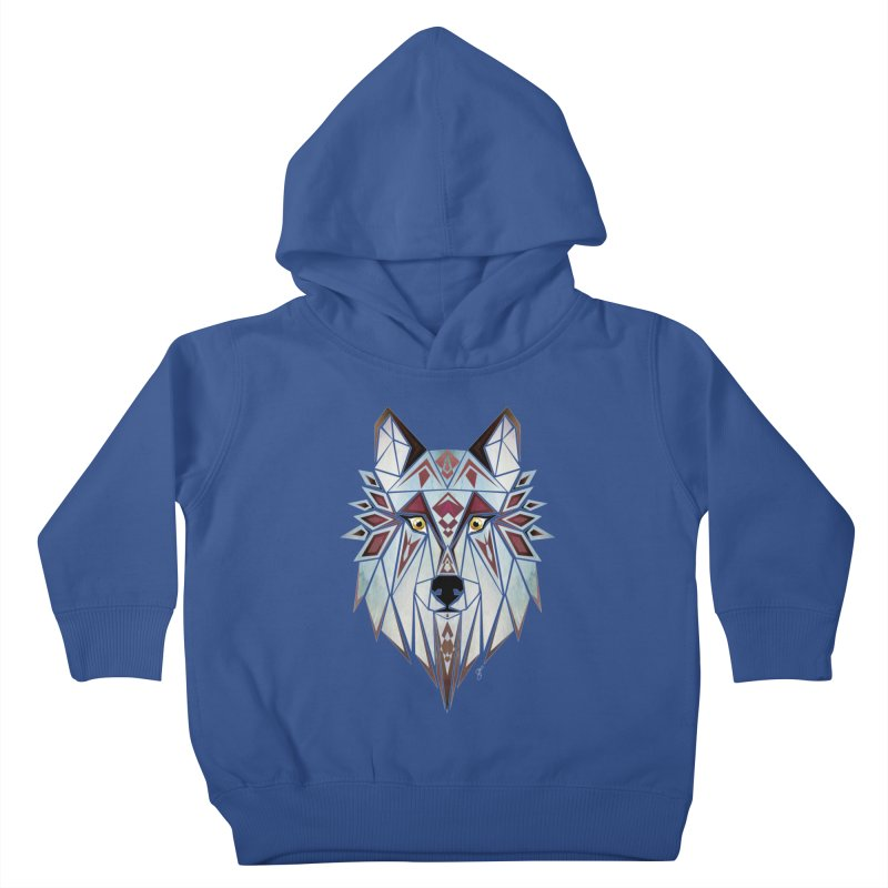 Wild wolf Kids Toddler Pullover Hoody by manoou's Artist Shop