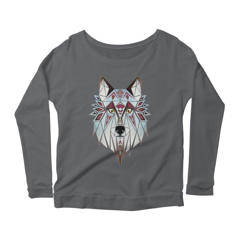 Wild wolf Women's Longsleeve Scoopneck  by manoou's Artist Shop