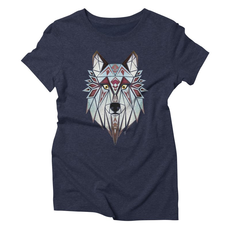 Wild wolf Women's Triblend T-shirt by manoou's Artist Shop