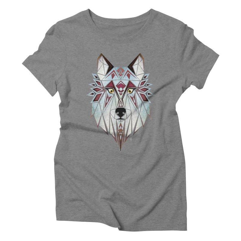 Wild wolf Women's Triblend T-shirt by manoou's Artist Shop