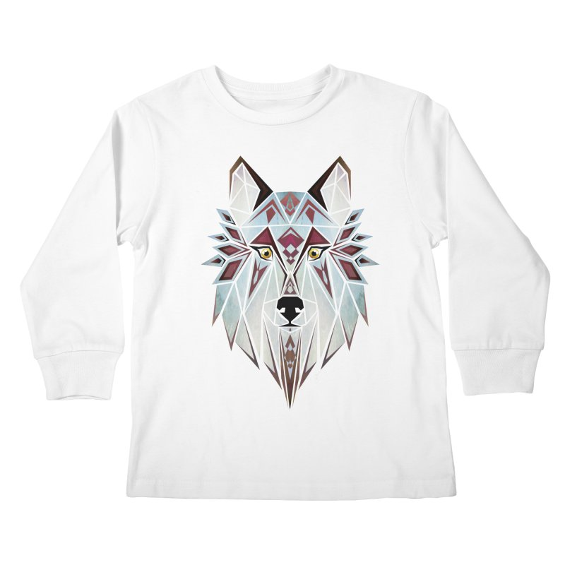 Wild wolf Kids Longsleeve T-Shirt by manoou's Artist Shop