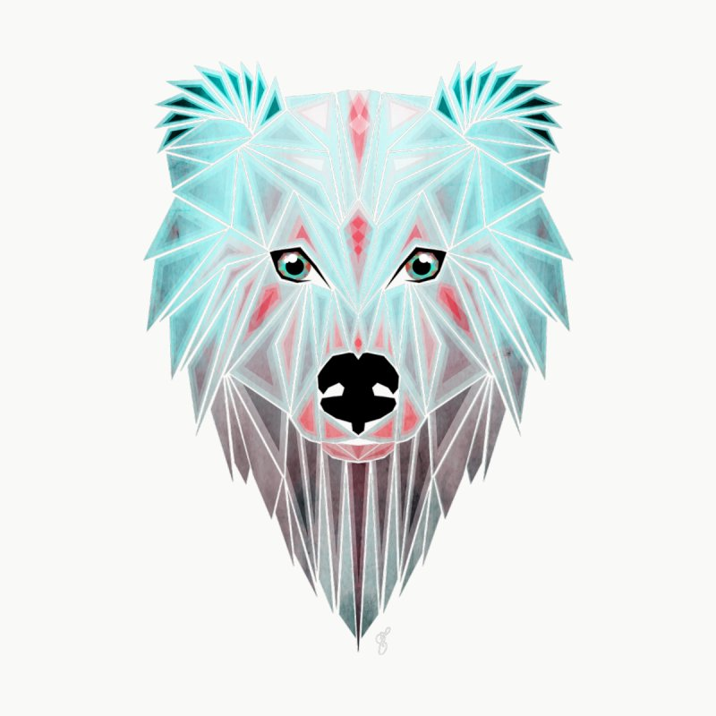 polar bear Women's Fitted T-Shirt by manoou's Artist Shop