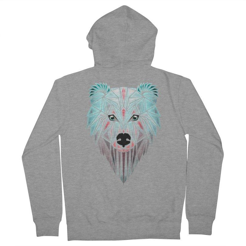 polar bear Women's Zip-Up Hoody by manoou's Artist Shop