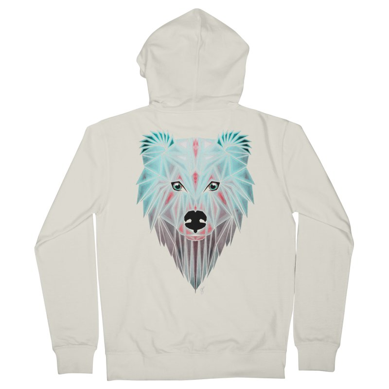 polar bear Women's Zip-Up Hoody by manoou's Artist Shop
