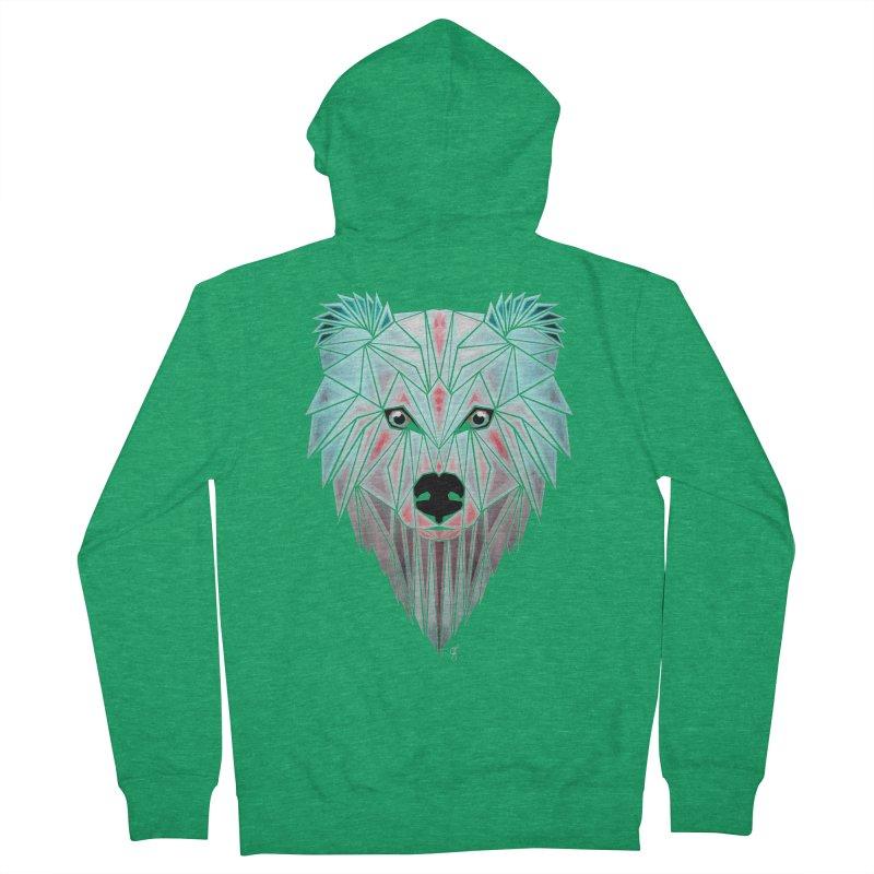 polar bear Men's Zip-Up Hoody by manoou's Artist Shop