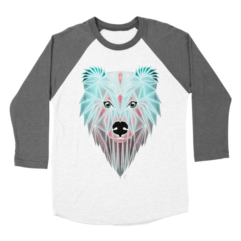 polar bear Women's Baseball Triblend T-Shirt by manoou's Artist Shop