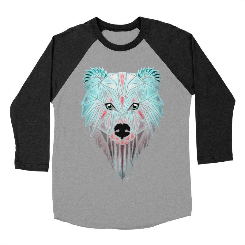 polar bear Women's Baseball Triblend T-Shirt by manoou's Artist Shop