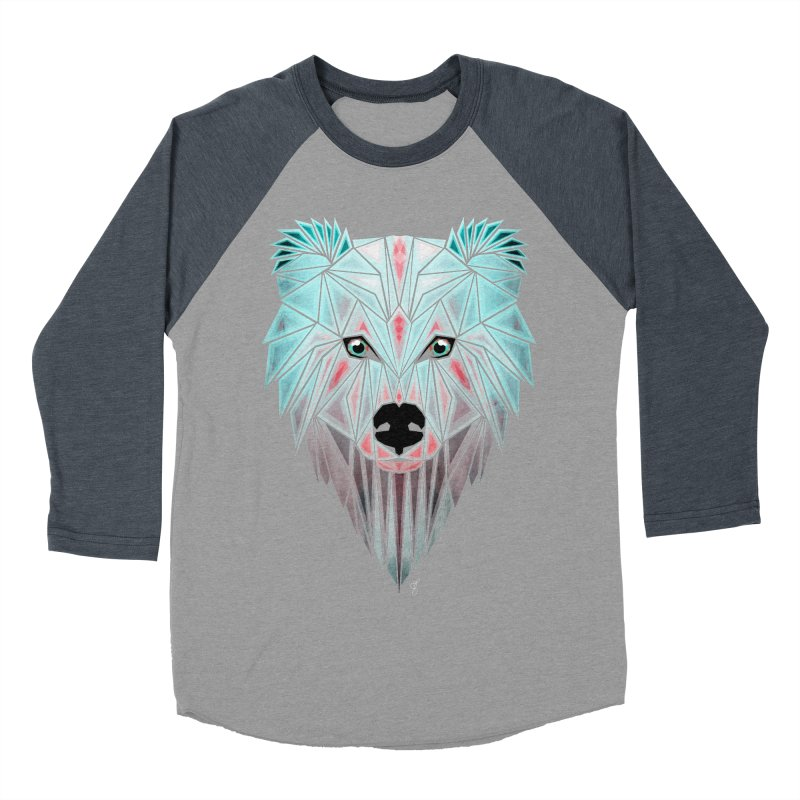 polar bear Men's Baseball Triblend T-Shirt by manoou's Artist Shop