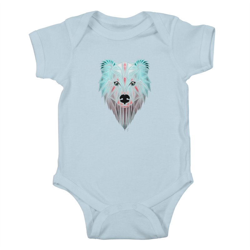 polar bear Kids Baby Bodysuit by manoou's Artist Shop