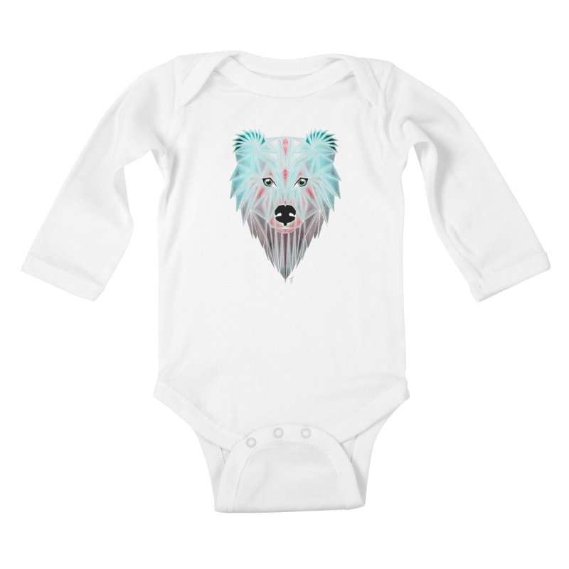 polar bear Kids Baby Longsleeve Bodysuit by manoou's Artist Shop