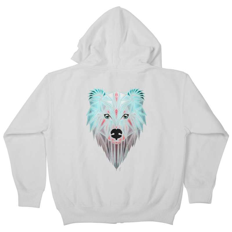polar bear Kids Zip-Up Hoody by manoou's Artist Shop