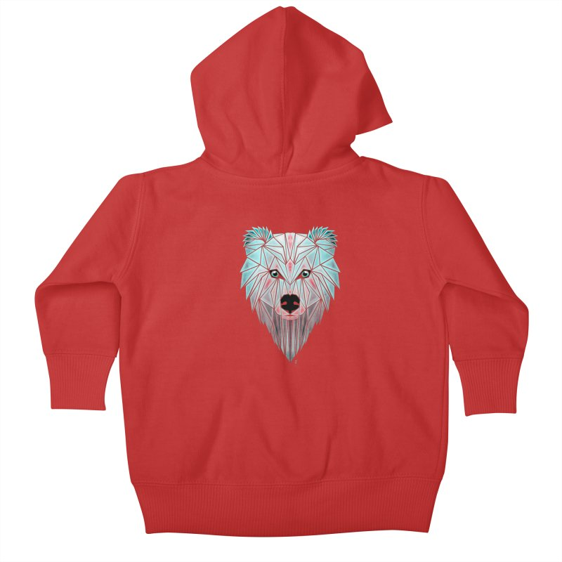 polar bear Kids Baby Zip-Up Hoody by manoou's Artist Shop