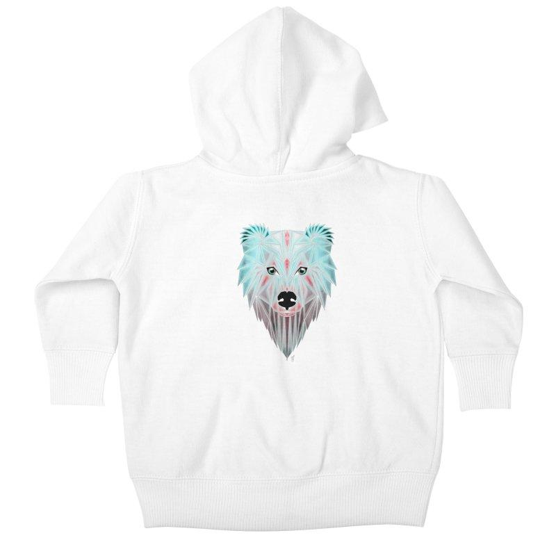 polar bear Kids Baby Zip-Up Hoody by manoou's Artist Shop