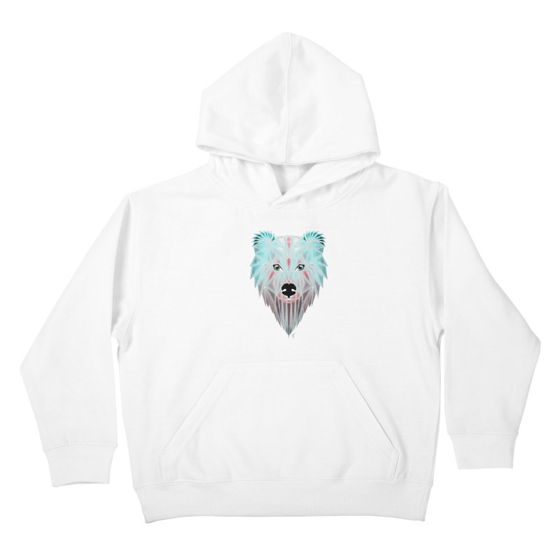 polar bear Kids Pullover Hoody by manoou's Artist Shop