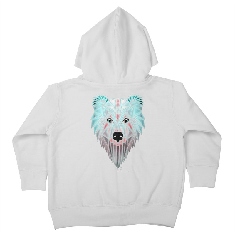 polar bear Kids Toddler Zip-Up Hoody by manoou's Artist Shop