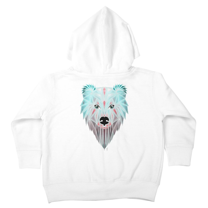 polar bear Kids Toddler Zip-Up Hoody by manoou's Artist Shop