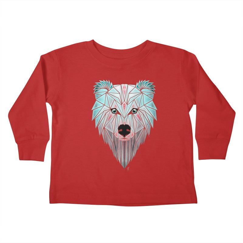 polar bear Kids Toddler Longsleeve T-Shirt by manoou's Artist Shop