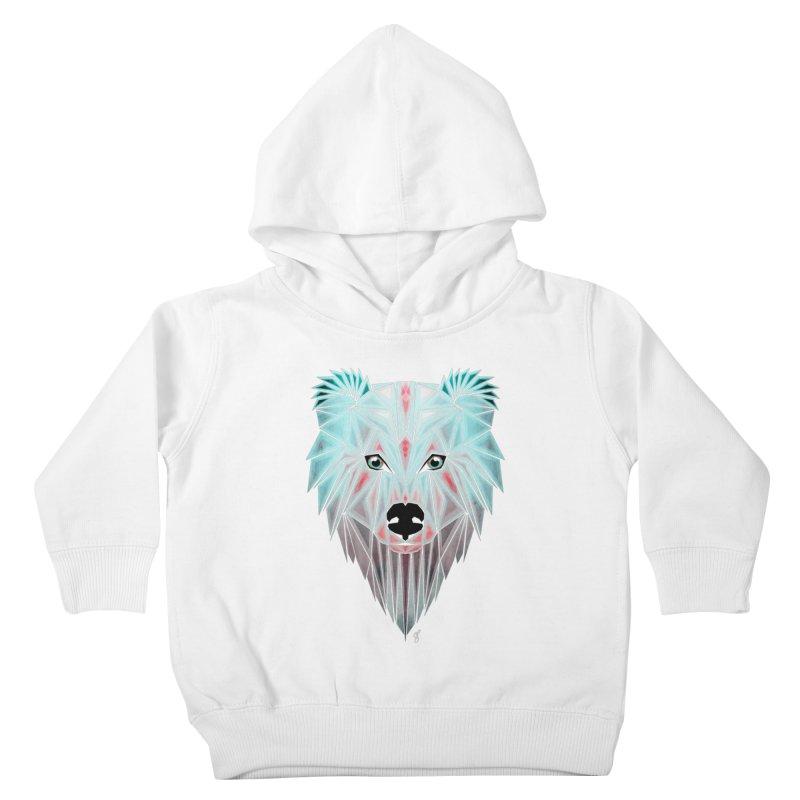 polar bear Kids Toddler Pullover Hoody by manoou's Artist Shop