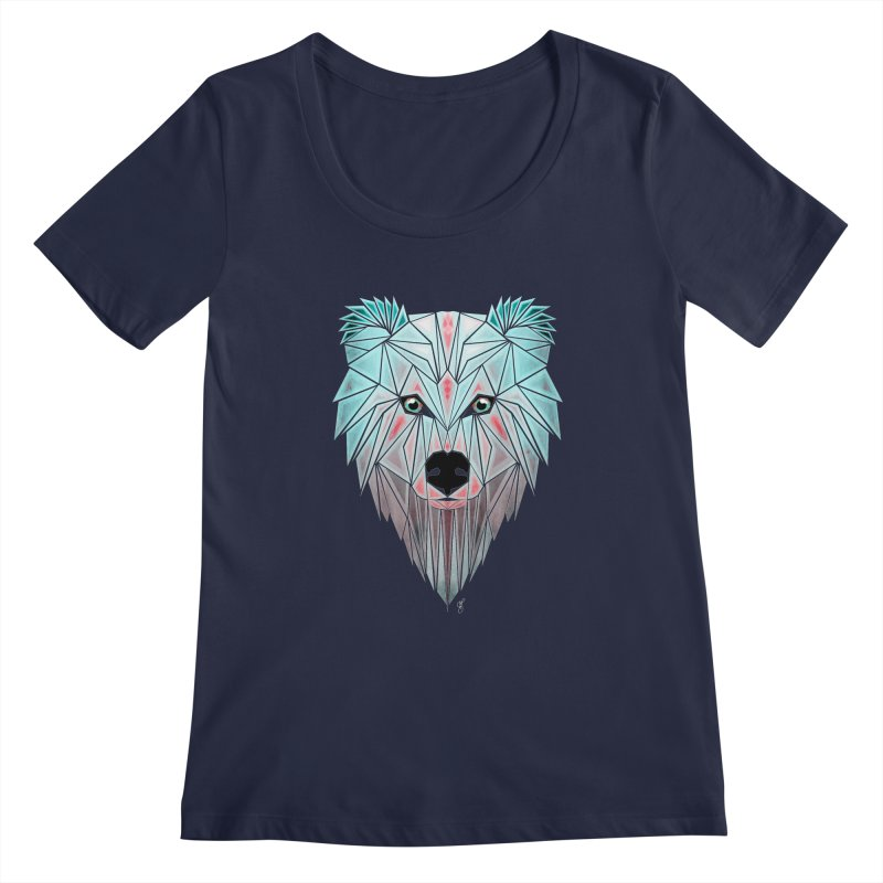 polar bear Women's Scoopneck by manoou's Artist Shop