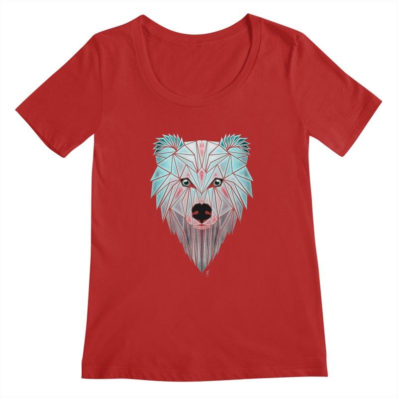 polar bear Women's Scoopneck by manoou's Artist Shop