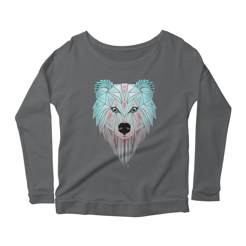 polar bear Women's Longsleeve Scoopneck  by manoou's Artist Shop