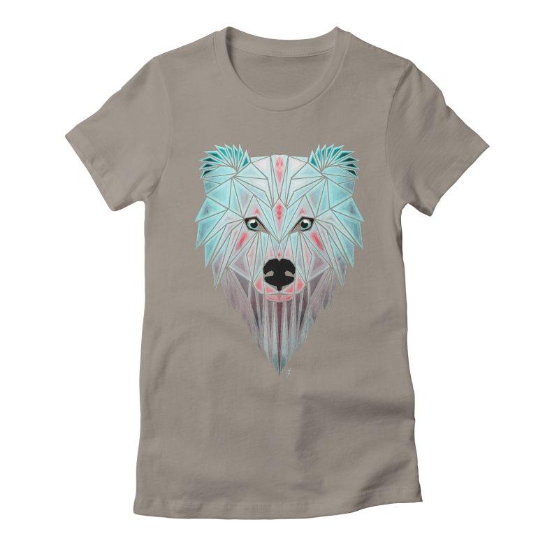 polar bear Women's Fitted T-Shirt by manoou's Artist Shop