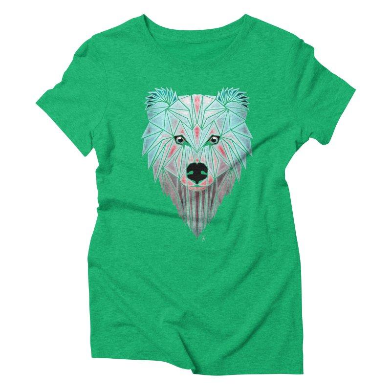 polar bear Women's Triblend T-shirt by manoou's Artist Shop