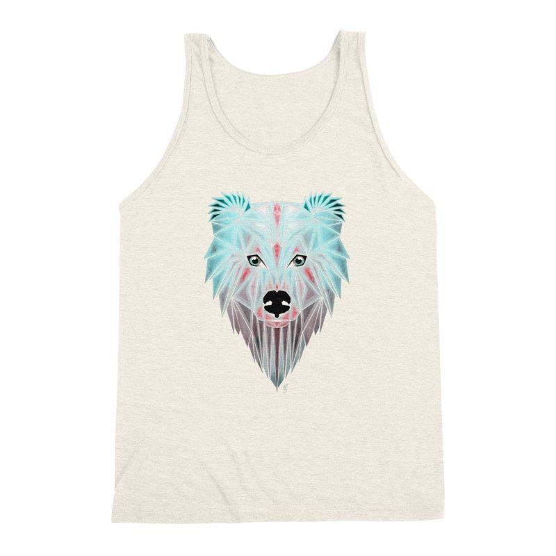 polar bear Men's Triblend Tank by manoou's Artist Shop