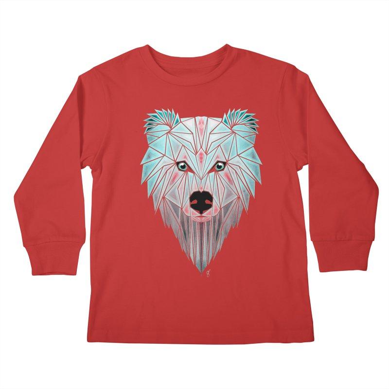 polar bear Kids Longsleeve T-Shirt by manoou's Artist Shop