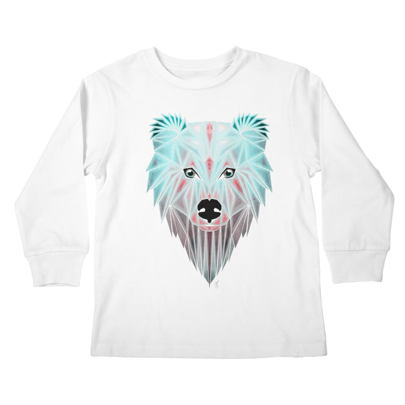 polar bear Kids Longsleeve T-Shirt by manoou's Artist Shop