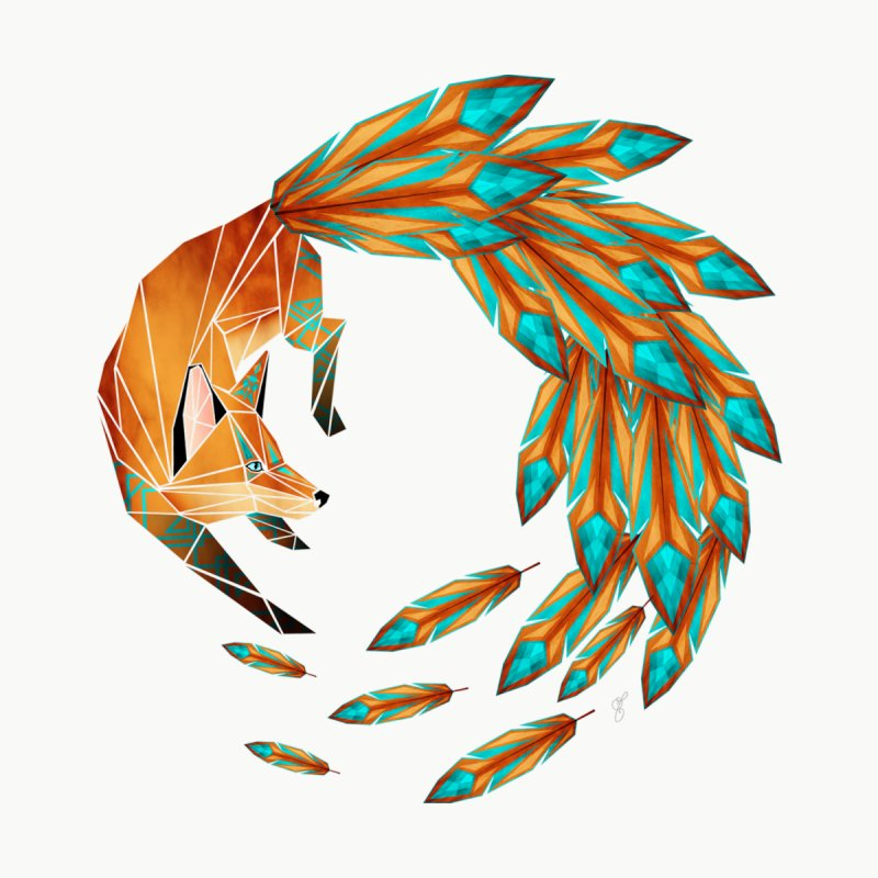 fox circle by manoou's Artist Shop