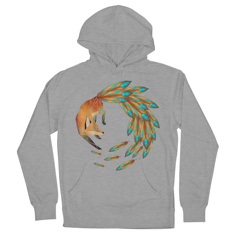 fox circle Women's Pullover Hoody by manoou's Artist Shop