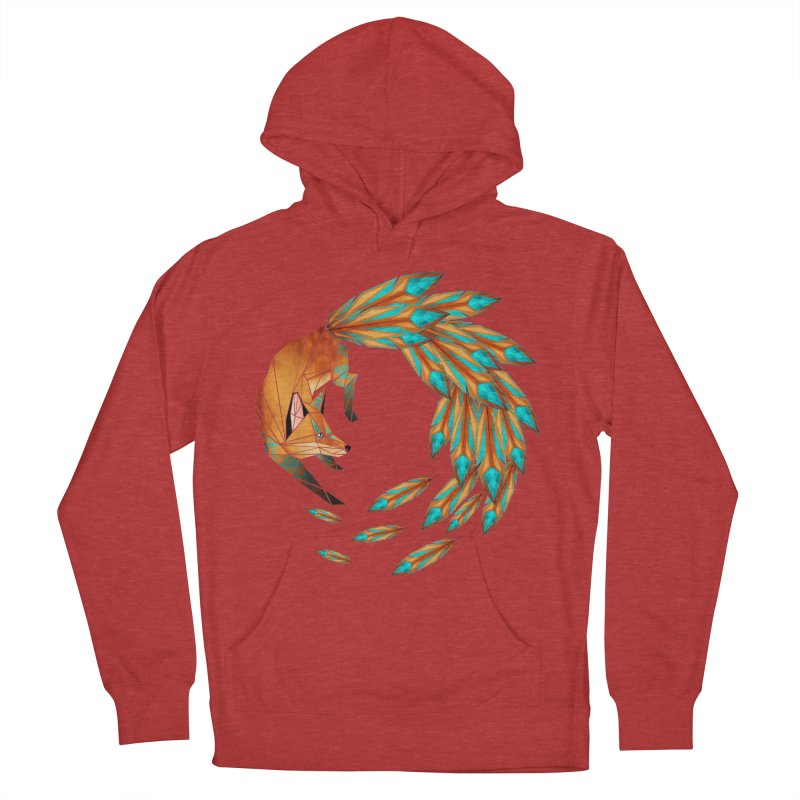 fox circle Men's Pullover Hoody by manoou's Artist Shop