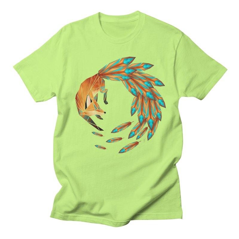 fox circle Men's T-shirt by manoou's Artist Shop
