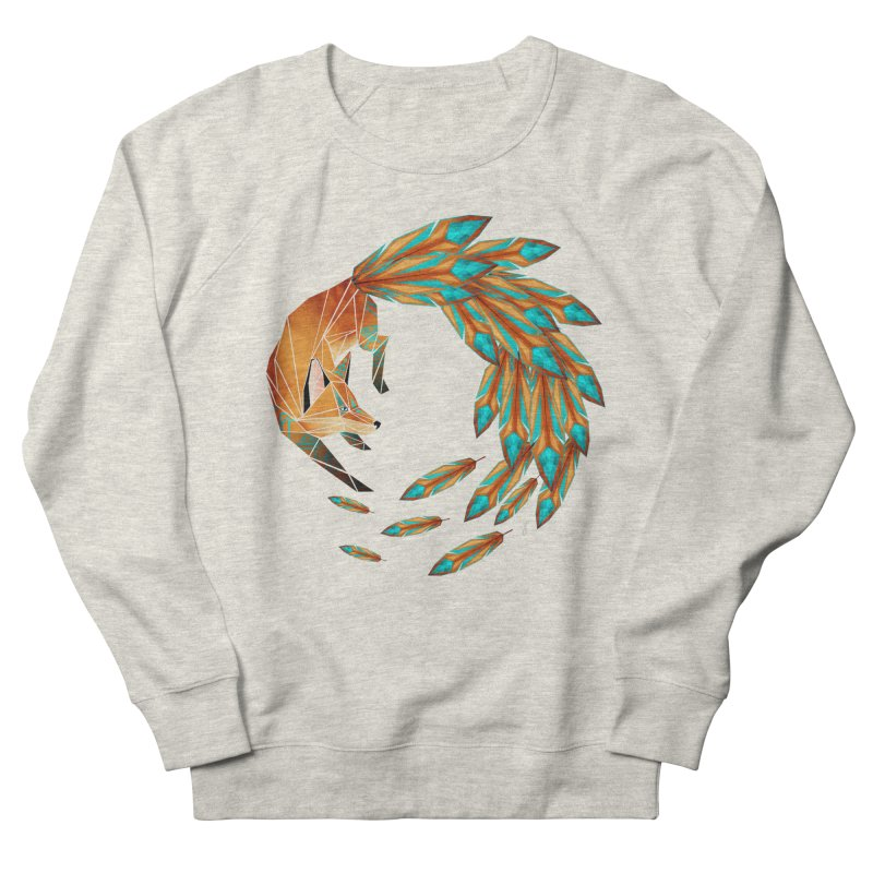 fox circle Women's Sweatshirt by manoou's Artist Shop