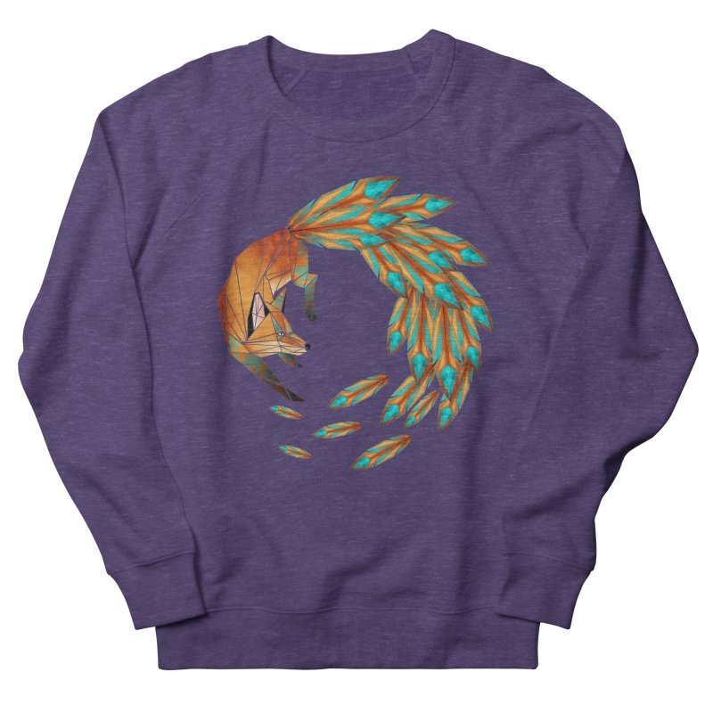 fox circle Men's Sweatshirt by manoou's Artist Shop