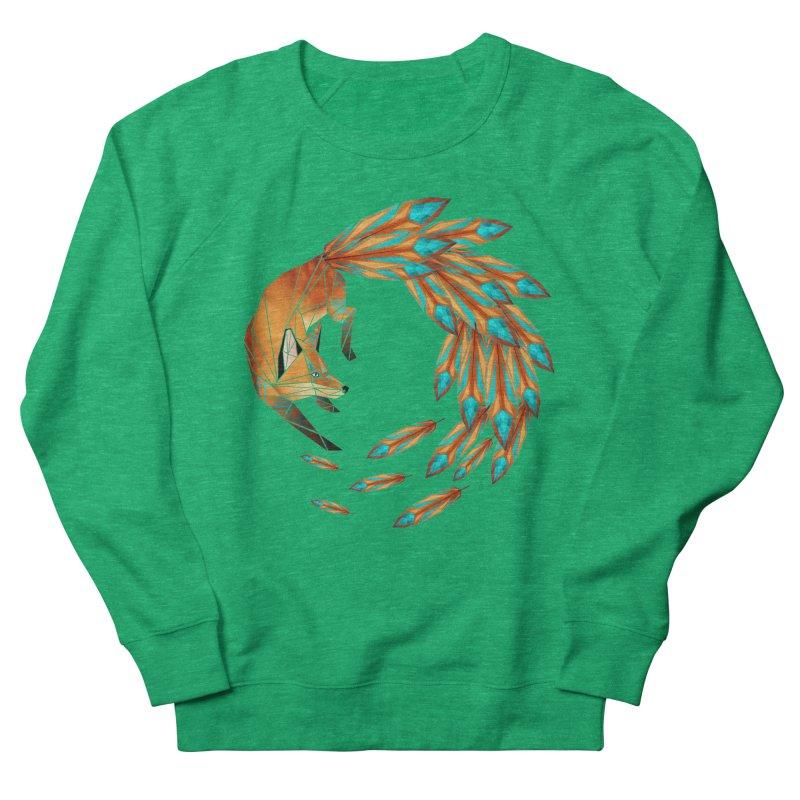 fox circle Men's Sweatshirt by manoou's Artist Shop