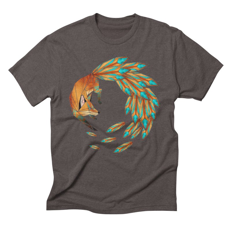 fox circle Men's Triblend T-shirt by manoou's Artist Shop