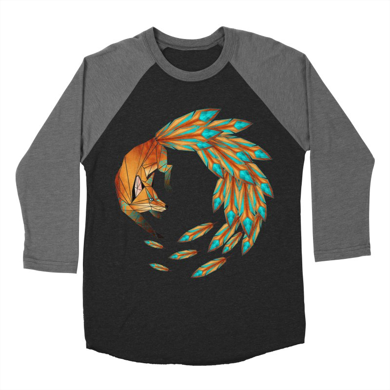 fox circle Women's Baseball Triblend T-Shirt by manoou's Artist Shop