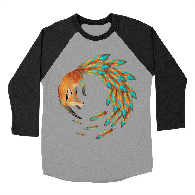 fox circle Women's Baseball Triblend T-Shirt by manoou's Artist Shop