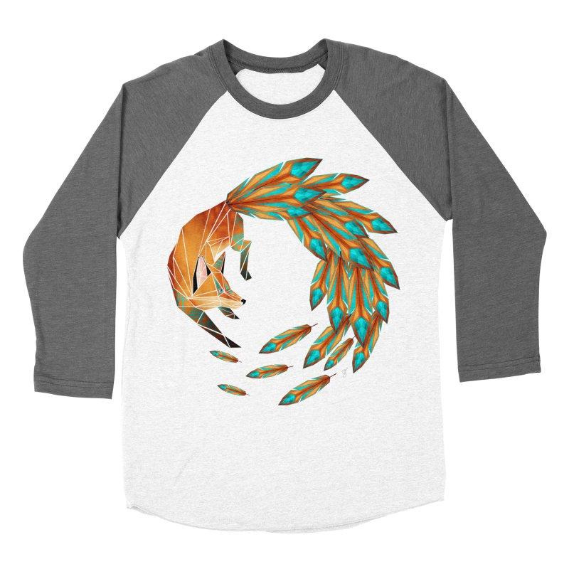 fox circle Men's Baseball Triblend T-Shirt by manoou's Artist Shop