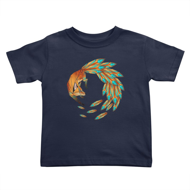 fox circle Kids Toddler T-Shirt by manoou's Artist Shop