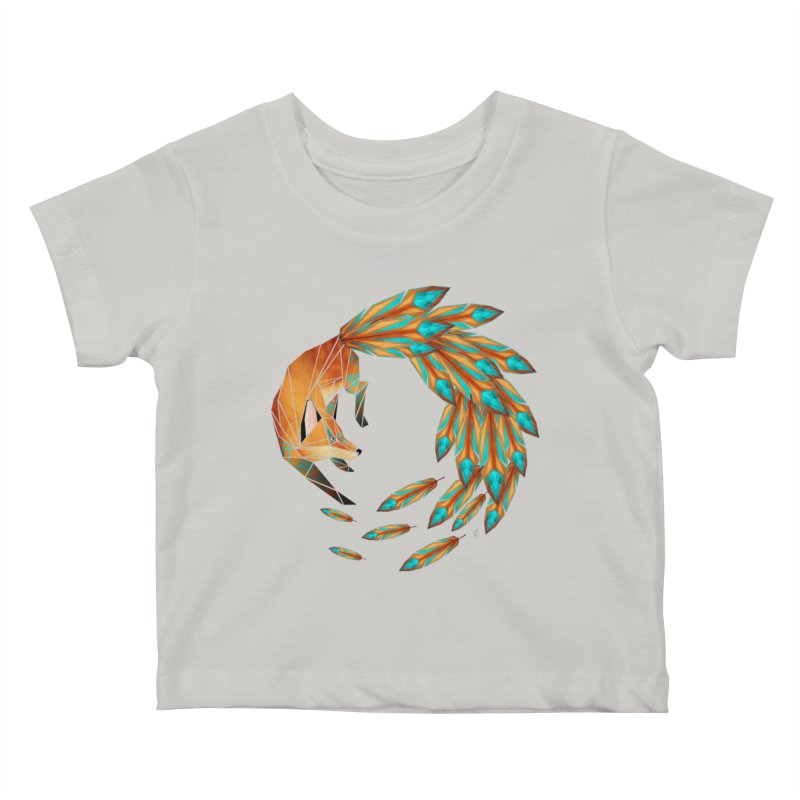 fox circle Kids Baby T-Shirt by manoou's Artist Shop