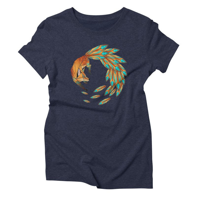 fox circle Women's Triblend T-shirt by manoou's Artist Shop