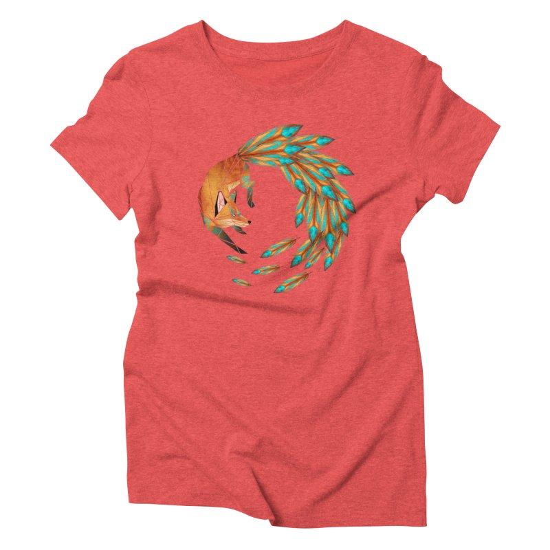 fox circle Women's Triblend T-Shirt by manoou's Artist Shop