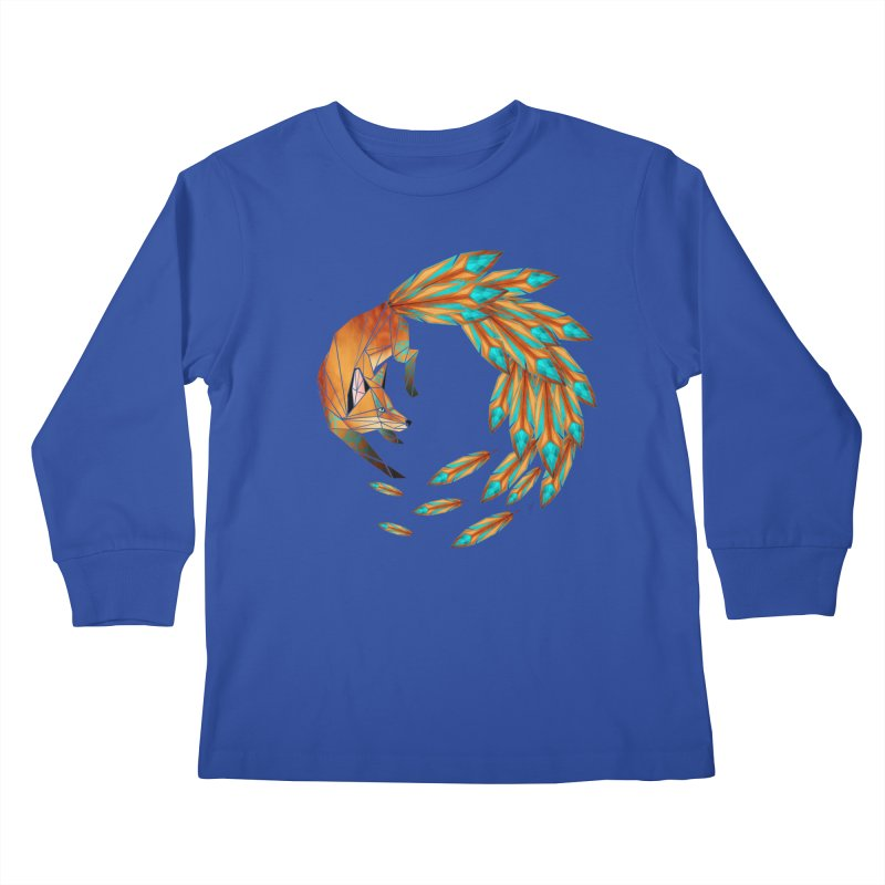 fox circle Kids Longsleeve T-Shirt by manoou's Artist Shop