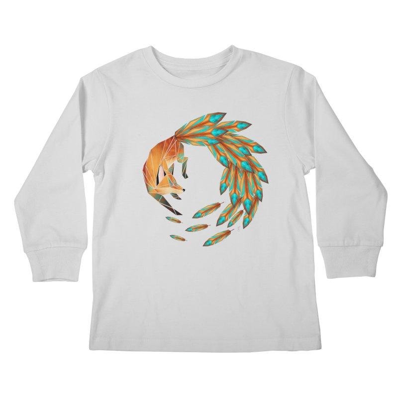 fox circle Kids Longsleeve T-Shirt by manoou's Artist Shop